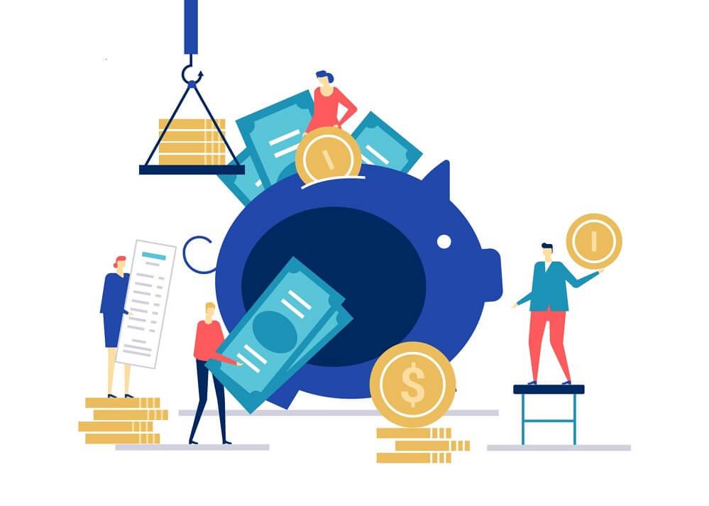 Ilustração de movimento financeiro